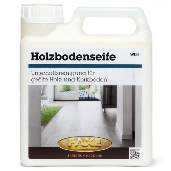 Holzbodenseife weiß
